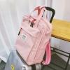 กระเป๋าเป้สะพายหลังผ้าฝ้าย (มีให้เลือก 4 สี)