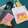 กระเป๋าถุงผ้า Canvas แต่งตุ๊กตาเป็ดยาง เย็บครอบ PVC ใส (มีให้เลือก 2 สี)