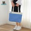 Canvas Handbag (Blue Sailor Stripes)