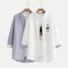 เสื้อเชิ้ตปักแต่งลาย *ไม่รวมเสื้อยืดด้านใน* (มีให้เลือก 2 สี)