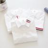 เสื้อเชิ้ตสีขาวแขนยาว แต่งลาย (มีให้เลือก 4 แบบ 3 ไซส์)