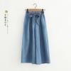 กางเกงยีนส์เนื้อบางขายาวเอวยืด (มีให้เลือก 2 สี 4 ไซส์)