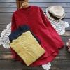 เสื้อเบลาส์ปักแต่งลายแขนยาว (มีให้เลือก 3 สี)