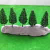 ต้นไม้จิ๋ว (N scale) สูง 5.8 ซ.ม. ชุด 10 ต้น