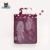 RONG.SHI.DAI Coating Mesh Handy Pouch - Flower (Red Wine)