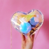 กระเป๋าสะพายข้าง PVC ทรงรูปหัวใจ (มีให้เลือก 3 สี)