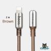 hoco U17 L-Capsule Data Cable 2M (Brown)