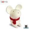 Semk - Mic Saving Bank (Rat Sitting/White 12.5cm)