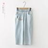 กางเกงยีนส์เอวยืด ปักลาย (มีให้เลือก 2 ไซส์)