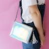 กระเป๋าสะพายข้าง หนัง PU แต่งพู่ (มีให้เลือก 3 สี)