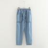กางเกงยีนส์เอวยืด แต่งกระเป๋า (มีให้เลือก 2 สี 2 ไซส์)