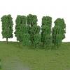 ต้นไม้ สเกล 1:300 สีเขียวอ่อน 25 ต้น สูง 35 ม.ม.