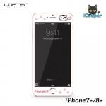 LOFTER Peekaboo 3D Full Cover - White (iPhone7+/8+)