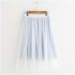 กระโปรงแต่งผ้ามุ้งเอวยืด (มีให้เลือก 2 สี)
