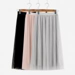 กระโปรงแต่งผ้ามุ้งเอวยืด (มีให้เลือก 3 สี)