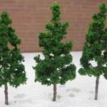 ต้นไม้ ขนาด 6.5 ซ.ม. สีเขียวเข้ม 10 ต้น