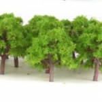 ต้นไม้ สเกล 1:300 สีเขียวอ่อน 25 ต้น 4 ซ.ม.