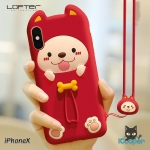 LOFTER Puppy Pet Silicone - Red (iPhoneX)