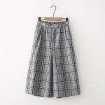 กางเกงขายาวลายสก๊อตเอวยืด สไตล์ Retro (มีให้เลือก 2 สี )