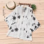 เสื้อคลุมญี่ปุ่นผ้าชีฟองปักลาย (มีให้เลือก 2 สี)