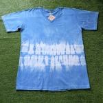 เสื้อยืดคอวี 100%Cotton มัดย้อมสีธรรมชาติ size:XL