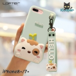LOFTER Hello Meow Silicone - Aquamarine (iPhone7+/8+)