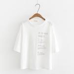 เสื้อยืดพิมพ์ลาย แขนสั้น (มีให้เลือก 3 สี)