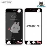LOFTER Bunny Full Cover - Black (iPhone8+/7+)