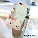 LOFTER Hello Rabbit Silicone - Aquamarine (iPhone8+/7+)