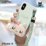 LOFTER Hello Rabbit Silicone - Aquamarine (iPhoneX)