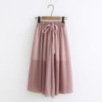 กางเกงขายาวผ้าชีฟองเนื้อบาง พร้อมซับในในตัว (มีให้เลือก 8 สี )