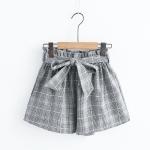 กางเกงขาสั้นลายสก๊อตเอวยืด (มีให้เลือก 3 สี)