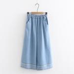 กางเกงยีนส์เอวยืด ปักลาย (มีให้เลือก 2 สี 2 ไซส์)