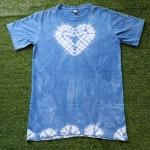 เสื้อยืดคอกลม 100%Cotton มัดย้อมสีธรรมชาติ size:M