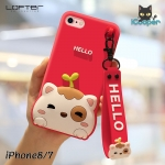 LOFTER Hello Meow Silicone - Red (iPhone7/8)
