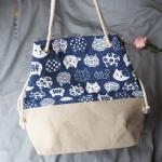{ พร้อมส่ง } กระเป๋าผ้าสะพายใบใหญ่ KONEKO TOTE BAG