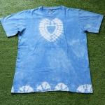 เสื้อยืดคอกลม 100%Cotton มัดย้อมสีธรรมชาติ size:L