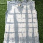 เสื้อกล้ามคอวี ผ้าคอตตอน100% มัดย้อมสีธรรมชาติ Size:L
