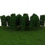 ต้นไม้ สเกล 1:300 สีเขียวทรงกระบอก 25 ต้น 3.8 ซ.ม.