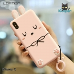 LOFTER Rabbit Silicone Ring - Pink (iPhoneX)