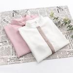 เสื้อเชิ้ตแขนยาว แต่งผ้ามุ้ง (มีให้เลือก 2 สี)
