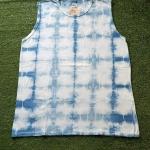 เสื้อกล้ามคอกลม ผ้าคอตตอน100% มัดย้อมสีธรรมชาติ Size:XL