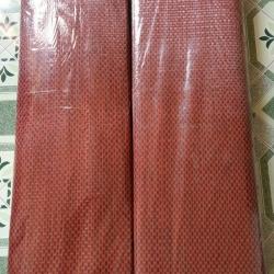เสื่อพลาสติกดำแดง ถวายวัด ขนาดกว้าง 90 cm.x ยาว 8 m.