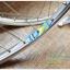 """ชุดล้อ 26"""" ดิส+วีเบรคดุม POWERWAY M80 ขอบ KINLIN 36 รู สีเงินสวยงาม thumbnail 3"""