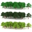 ต้นไม้ สเกล 1:300 คละสี 75 ต้น 4 ซ.ม. thumbnail 1