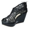 พร้อมส่ง รองเท้าส้นเตารีดแฟชั่น OR1853-BLK [สีดำ]
