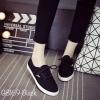 พร้อมส่ง รองเท้าผ้าใบแฟชั่น G8169-BLK [สีดำ]