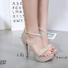 พร้อมส่ง รองเท้าส้นสูงรัดข้อ สไตล์เกาหลี 17-8237D5-GLD [สีทอง]
