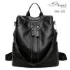 พร้อมส่ง กระเป๋าเป้ผู้หญิงหนัง pu นิ่ม - BAG-032 [สีดำ]