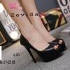 พร้อมส่ง รองเท้าคัชชูเปิดหน้า 17-2318-BLK [สีดำ]